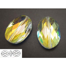 Swarovski oval bead 14mm crystal AB