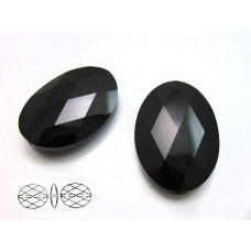 Swarovski oval bead 22mm jet
