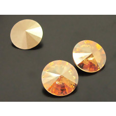 Swarovski rivoli stone golden shadow 10mm