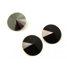 Swarovski rivoli stone hematite 10mm