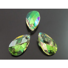 Swarovski pear-shaped 16mm luminous green