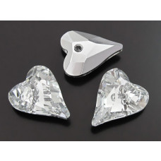 Swarovski wild heart 17mm comet argent light foiled