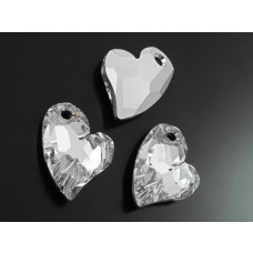 Swarovski devoted 2U heart 17mm comet argent light foiled