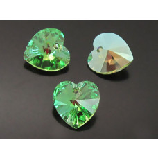 Swarovski heart 18mm peridot AB