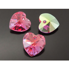 Swarovski heart 18mm rose AB