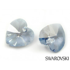 Swarovski heart 10mm blue shade