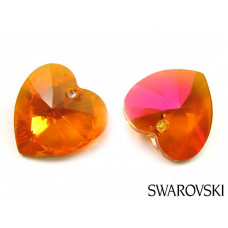 Swarovski heart 18mm astral pink