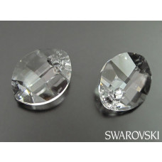Swarovski pure leaf pendant 14mm crystal