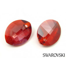 Swarovski pure leaf pendant 14mm red magma