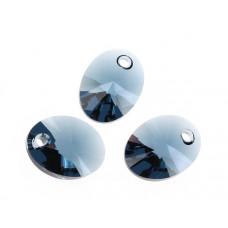 Swarovski oval pendant montana 12mm
