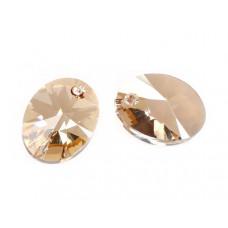 Swarovski oval pendant golden shadow 18mm