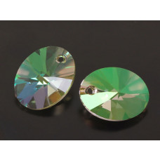 Swarovski oval pendant luminous green 18mm