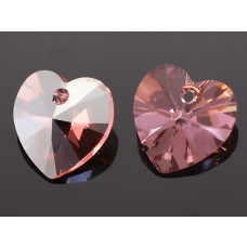 Swarovski heart 14mm light rose