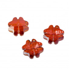 Swarovski clover red magma 19mm