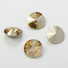 Swarovski rivoli stone golden shadow 18mm