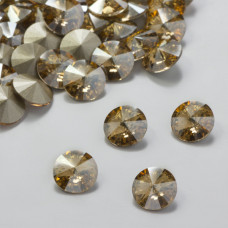 Swarovski rivoli stone golden shadow 8mm