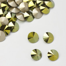 Swarovski rivoli stone irdescent green 10mm