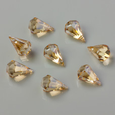 Swarovski raindrop golden shadow 14mm