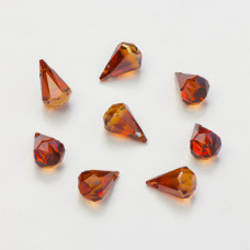 Swarovski raindrop red magma 14mm