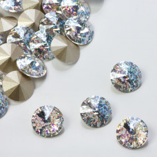 Swarovski rivoli stone white patina 10mm