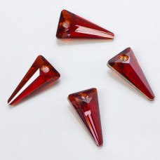 Swarovski spike pendant red magma 18mm