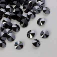 Swarovski rivoli stone hematite 8mm