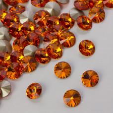 Swarovski rivoli stone tangerine 8mm