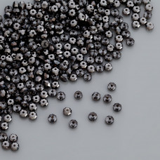 Swarovski rondelle bead silver night 4mm