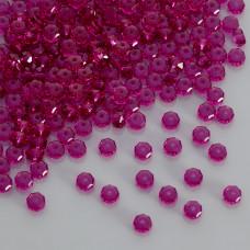 Swarovski rondelle bead fuchsia 6mm