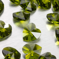Swarovski heart 18 mm  olivine