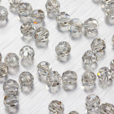 5000 round bead silver shade  6mm