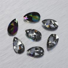 6106 Swarovski almond pendant Crystal Rainbow Dark 16mm