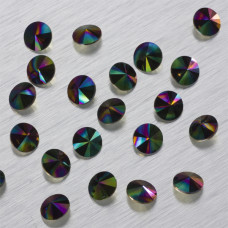 1122 Swarovski rivoli stone Crystal Rainbow Dark 8mm