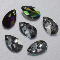 6106 Swarovski almond pendant Crystal Rainbow Dark 22mm