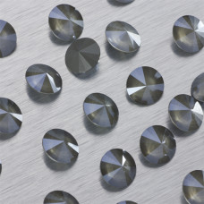 1122 Swarovski rivoli stone Crystal Dark Grey 12mm
