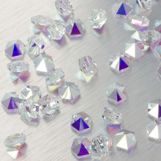5060 Hexagon Spike bead crystal AB 7.5mm