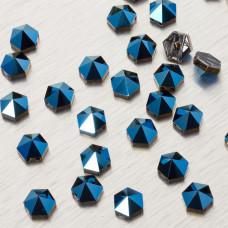 5060 Hexagon Spike bead metalic blue 7.5mm