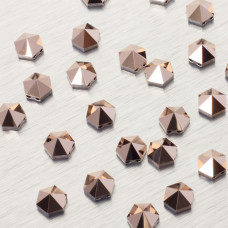 5060 Hexagon Spike bead rose gold 7.5mm