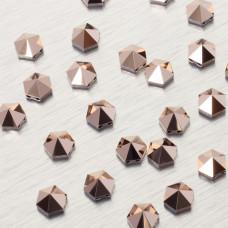 5060 Hexagon Spike bead rose gold 7.5mm