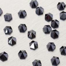 5060 Hexagon Spike bead jet hematite 7.5mm