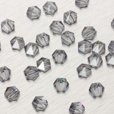 5060 Hexagon Spike bead silver night 7.5mm