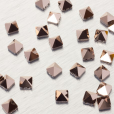 5061 Square spike bead rose gold 7.5mm