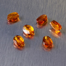 5051 Swarovski mini oval bead 8x6mm Tangerine