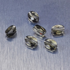 5051 Swarovski mini oval bead 8x6mm Black Diamond
