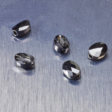 5051 Swarovski mini oval bead 8x6mm Silver Night