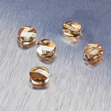 5052 Swarovski mini round bead 8mm Golden Shadow