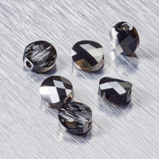 5052 Swarovski mini round bead 8mm Crystal Silver Night