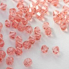 5328 bicone bead Swarovski, rose peach, 6mm