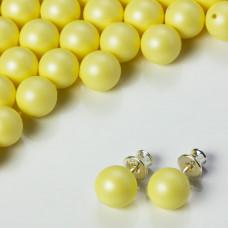 Perły SWAROVSKI do kolczyków (945) Pastel Yellow 8mm