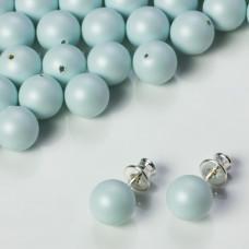 Perły SWAROVSKI do kolczyków (966) Pastel Blue 8mm
